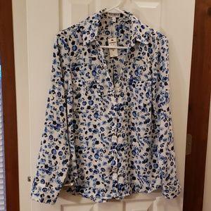 NWT Express The Portofino Shirt floral blouse